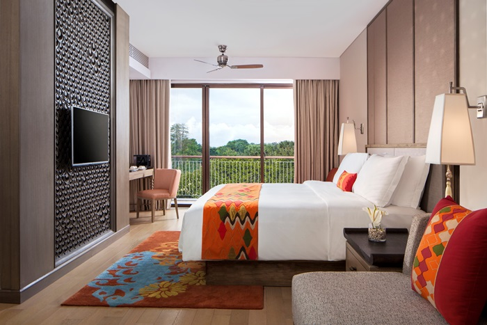 Bedroom view of the Junior Suite at Movenpick Resort & Spa Jimbaran Bali